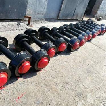 實心鑄鋼礦車輪對 平板車輪 加工定做各種規格軌道輪子